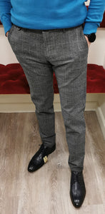 Bugatti - Grey Check Chino, Modern Fit