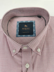 Magee - Rarooney Tailored Fit Shirt, Pink & White