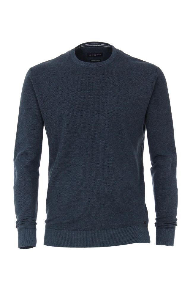 Casa Moda - Cotton Crew Neck, Petrol Blue (L & XL Only)