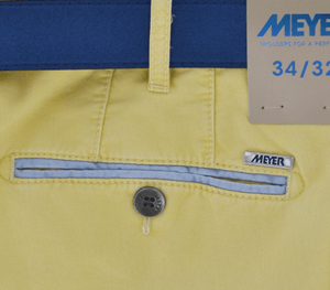 Meyer - B-Palma Shorts, Lemon (34W & 38W) - Tector Menswear