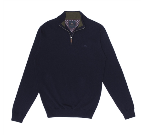 Magee - Lunnaigh, 1/2 Zip, Navy Lambswool