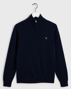 GANT - Superfine Lambswool Half Zip, Marine