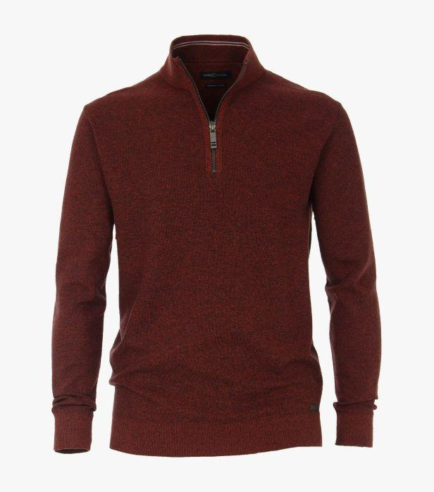 Casa Moda - Orange Half Zip Jumper - Tector Menswear
