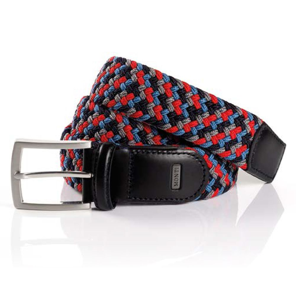 Monti - Elasticated Belt, Red/Navy/Blue