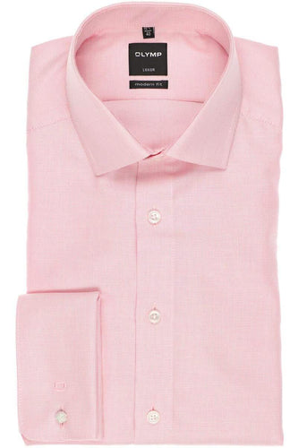 OLYMP - Luxor, Modern Fit, Pink, Double Cuff - Tector Menswear