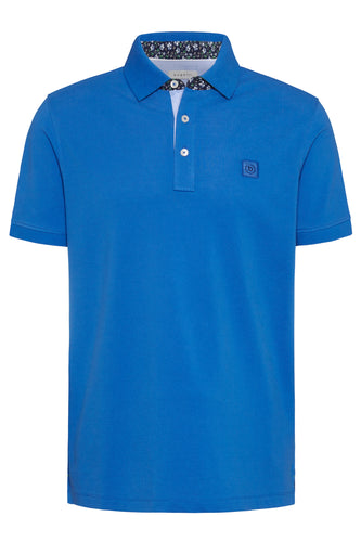 Bugatti - Floral Trim Polo Blue (S Only) - Tector Menswear