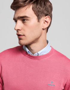 Gant - Classic Cotton Crew, Rapture Rose