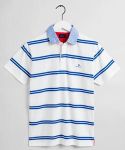Gant - Contrast SS Heavy Rugger, Eggshell (Size L Only) - Tector Menswear
