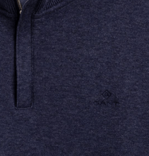 Load image into Gallery viewer, GANT - Sacker Rib Half Zip, Dark Indigo - Tector Menswear