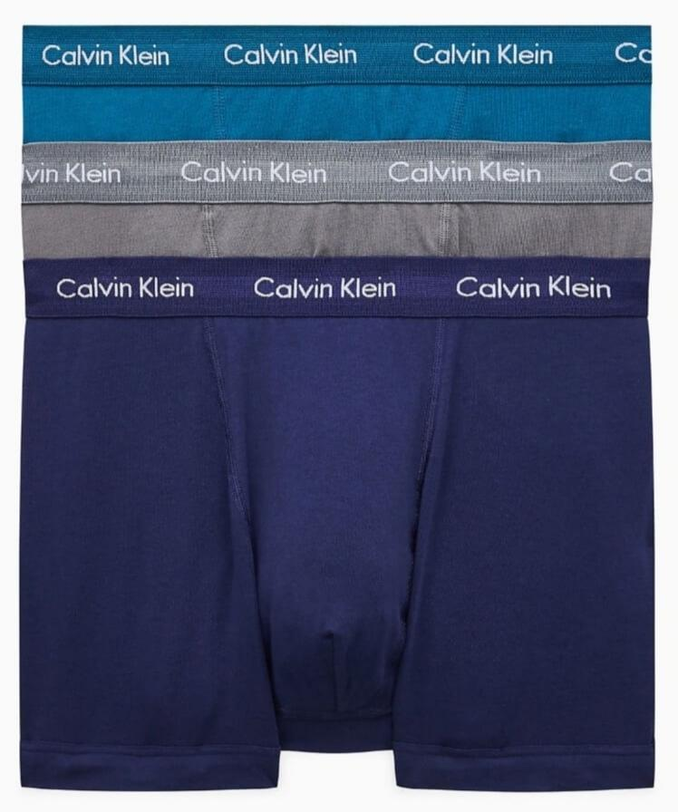 Calvin Klein - 3 Pack Boxers in Grey, Teal and Navy