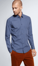 Load image into Gallery viewer, Strellson - Blue Patterned Slim Fit Shirt - Tector Menswear