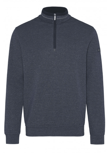 Bugatti - Sweat Shirt Troyer, Blue - Tector Menswear