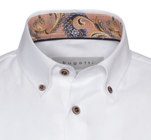 Load image into Gallery viewer, Bugatti - Casual White Shirt with floral trim - Tector Menswear