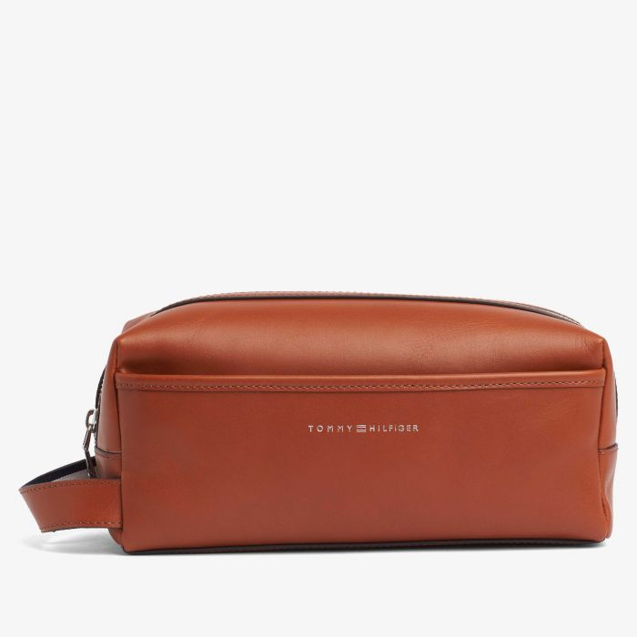 Tommy Hilfiger - Brown Leather Washbag