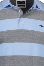 Load image into Gallery viewer, Baileys - Blue & Grey Stripe Polo