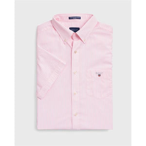 GANT - Broadcloth Pink/White Stripe Short Sleeve Shirt (L and XXXL) - Tector Menswear