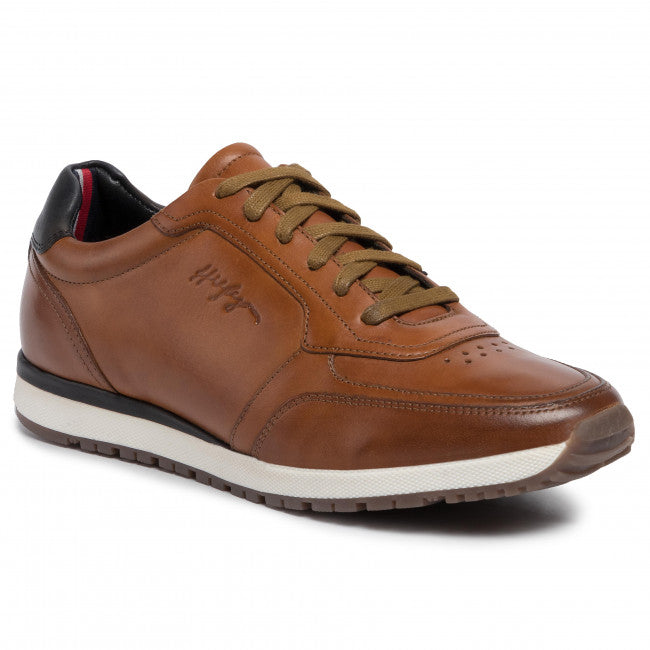 Tommy Hilfiger - Premium Leather Runner, Cognac (Size 41, 42, 44 only)