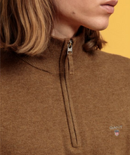 Load image into Gallery viewer, GANT - Superfine Lambswool Half Zip, Butternut Melange