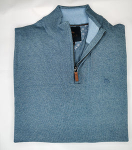 Magee - Carn Cotton 1/4 Zip, Sail Blue