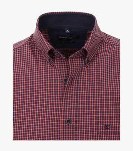 Casa Moda - Organic Cotton Small Check Shirt - Tector Menswear