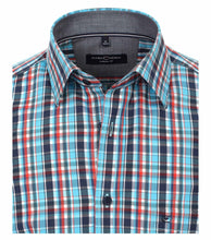 Load image into Gallery viewer, Casa Moda - Teal Check Shirt