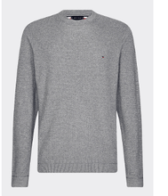 Load image into Gallery viewer, Tommy Hilfiger - Zig Zag Structured Crew Neck, Dark Grey - Tector Menswear