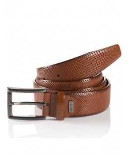 Monti - Tan Embossed Leather Belt