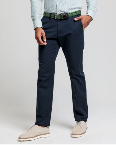 GANT - Regular Twill Chino, Marine - Tector Menswear
