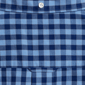 GANT - Oxford Striped Gingham, Pacific Blue