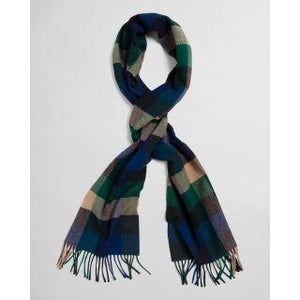 GANT - Multi Check Wool Scarf, Ivy Green