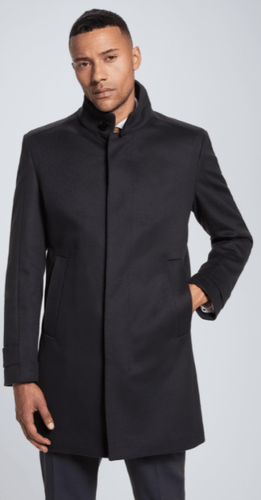 Strellson -  New Broadway Wool/Cashmere Coat, Navy - Tector Menswear