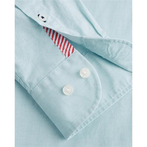 Tommy Hilfiger - Regular Fit Cotton Shirt in Ocean Tide Blue
