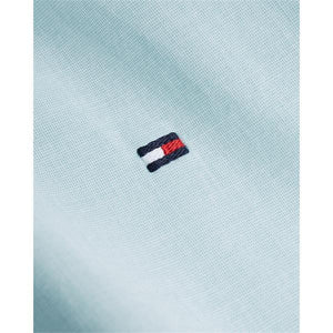 Tommy Hilfiger - Regular Fit Cotton Shirt in Ocean Tide Blue - Tector Menswear