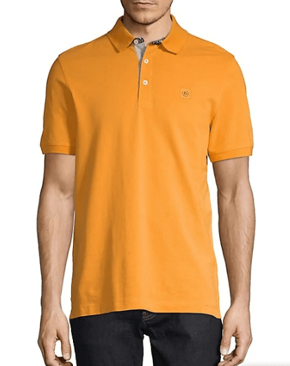 Bugatti - Floral Trim Polo, Orange