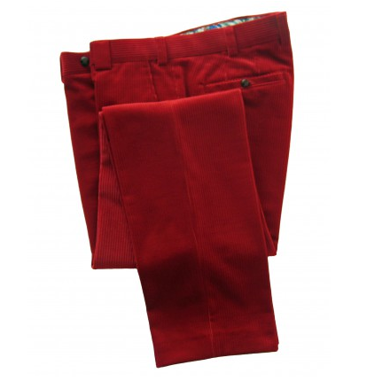 Meyer - Roma Red Corduroy Trousers