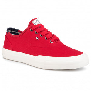 Tommy Hilfiger - Core Oxford Twill Sneaker, Red