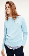 Load image into Gallery viewer, Tommy Hilfiger - Organic Cotton Silk Crew Neck, Sail Blue