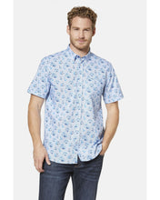 Load image into Gallery viewer, Bugatti - Short Sleeve Shirt Blue Design (M & XXL Only) - Tector Menswear