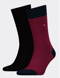 Tommy Hilfiger - 2 Pack Navy/Red Socks - Tector Menswear