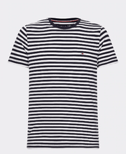 Load image into Gallery viewer, Tommy Hilfiger - Stretch Slim Fit T-Shirt - Navy White Striped (S only) - Tector Menswear