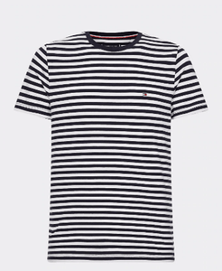 Tommy Hilfiger - Stretch Slim Fit T-Shirt - Navy White Striped (S only) - Tector Menswear
