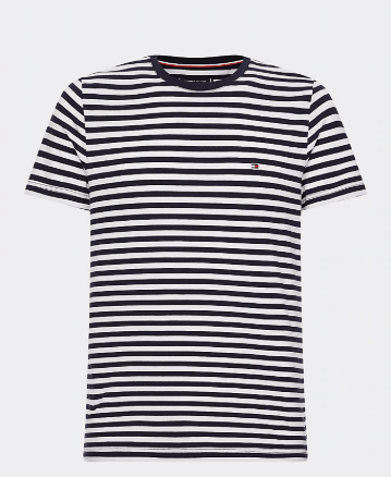 Tommy Hilfiger - Stretch Slim Fit T-Shirt - Navy White Striped (S only)