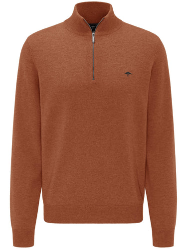 Fynch-Hatton - Troyer Zip, Elbow Patches, Toscana - Tector Menswear
