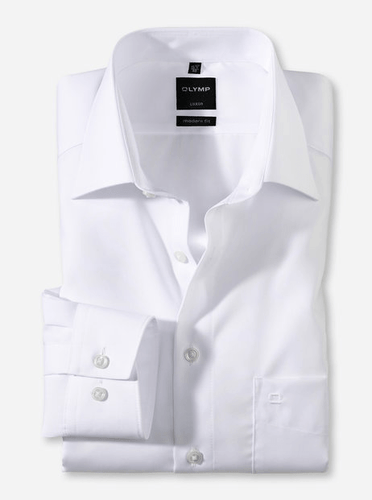 OLYMP -  Luxor, Modern Fit, White - Tector Menswear