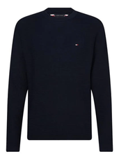 Load image into Gallery viewer, Tommy Hilfiger - Zig Zag Structured Crew Neck, Navy