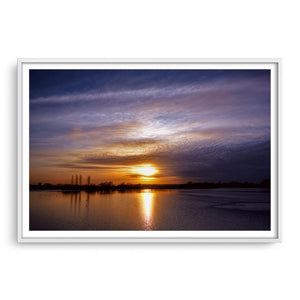 Abberton Reservoir framed in white