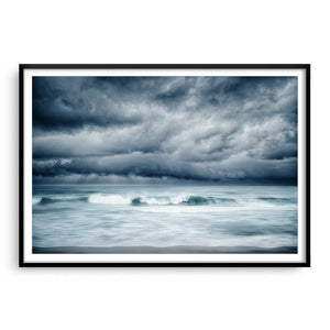 Winter storm approaching North Beach in Perth, Western Australia framed in black