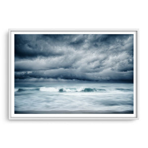 Winter storm approaching North Beach in Perth, Western Australia framed in white