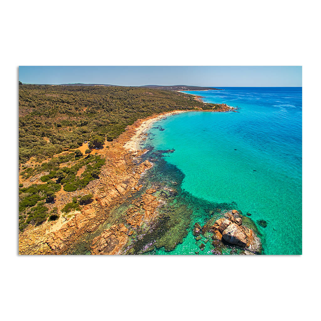 aerial view of gannet rock in western australia