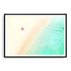 Aerial view of a South West beach in Western Australia framed in black